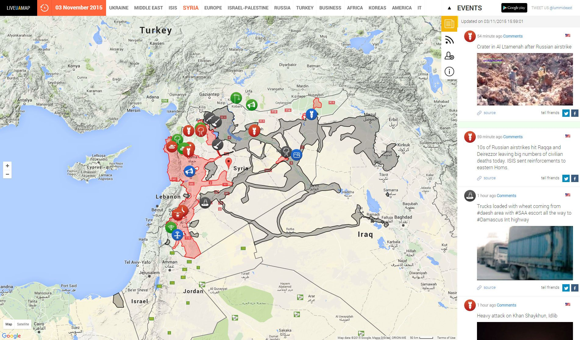 http://syria.liveuamap.com/ | Data Visualization Collection ...
