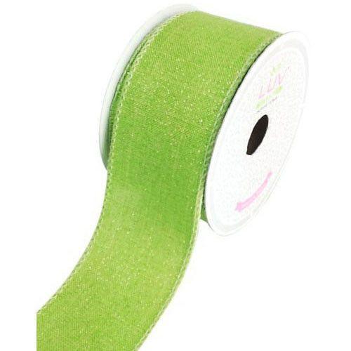 Canvas Glam Ribbon, 2-inch, 10-yard, Apple Green