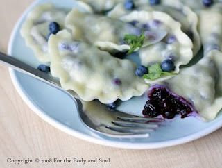 wild blueberry pierogie | blog: for the Body and Soul