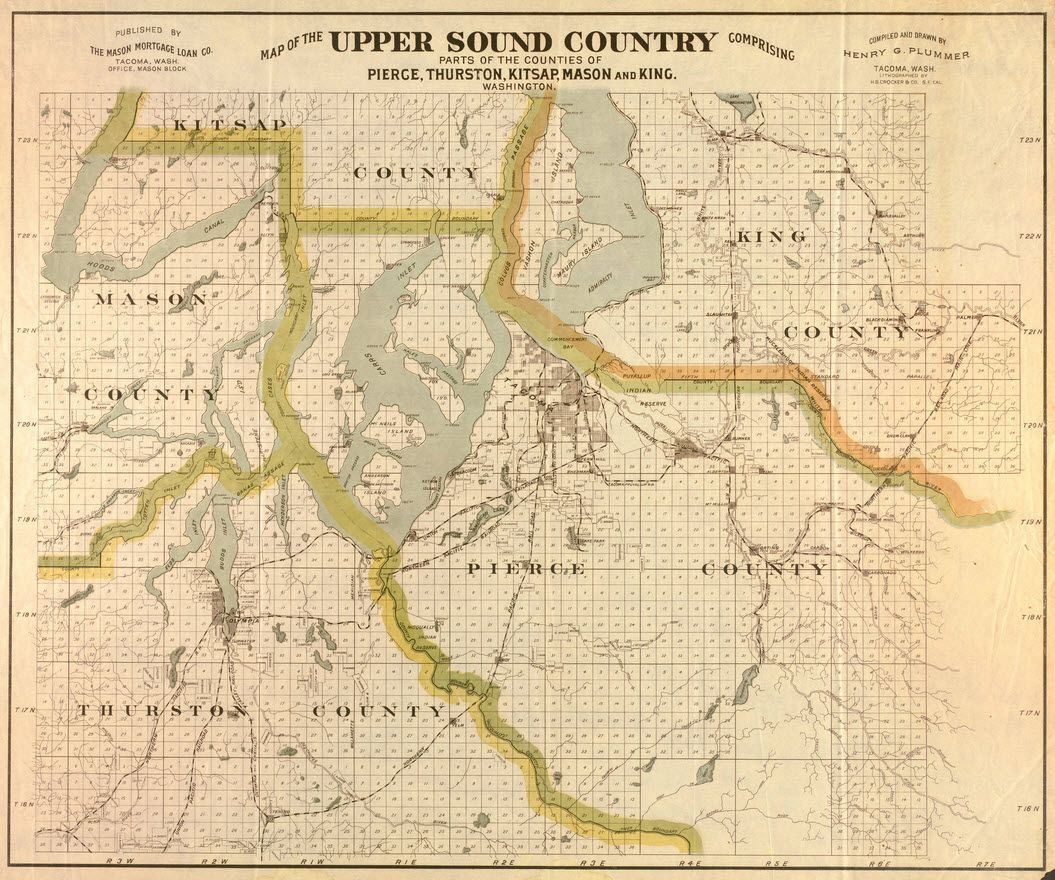 Map Of The Upper Sound Country Comprising Parts Of The Counties Of