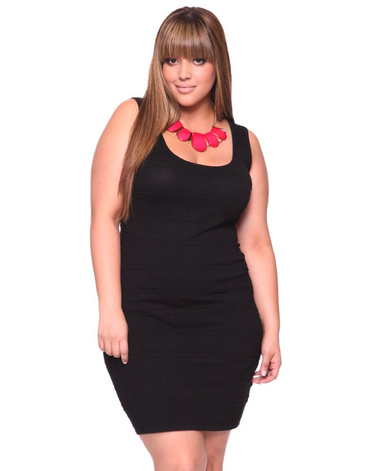 cdde1016a4b Plus size LBD that looks cute and not frumpy  Sign me up. And LOVE the pop  of pink