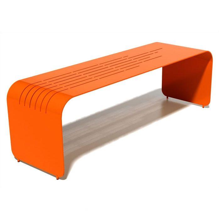 Orange Garden Bench Alternative To Sitting Wall 400 x 300