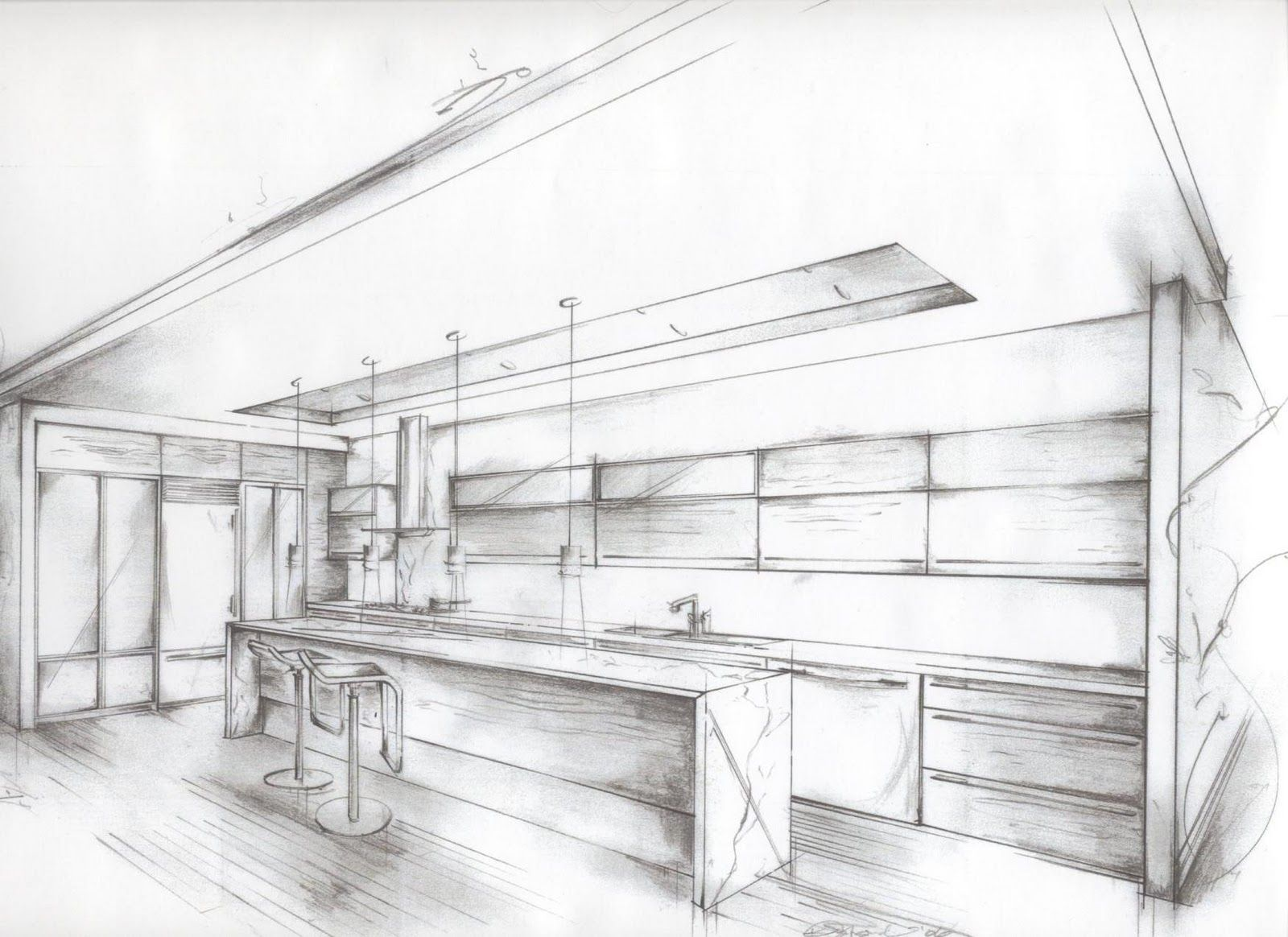 Image Gallery Kitchen Drawing