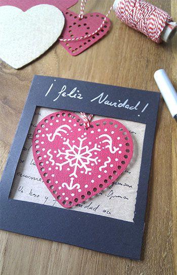 precioso detalle de navidad tarjetas de amor hechas a manotarjeta