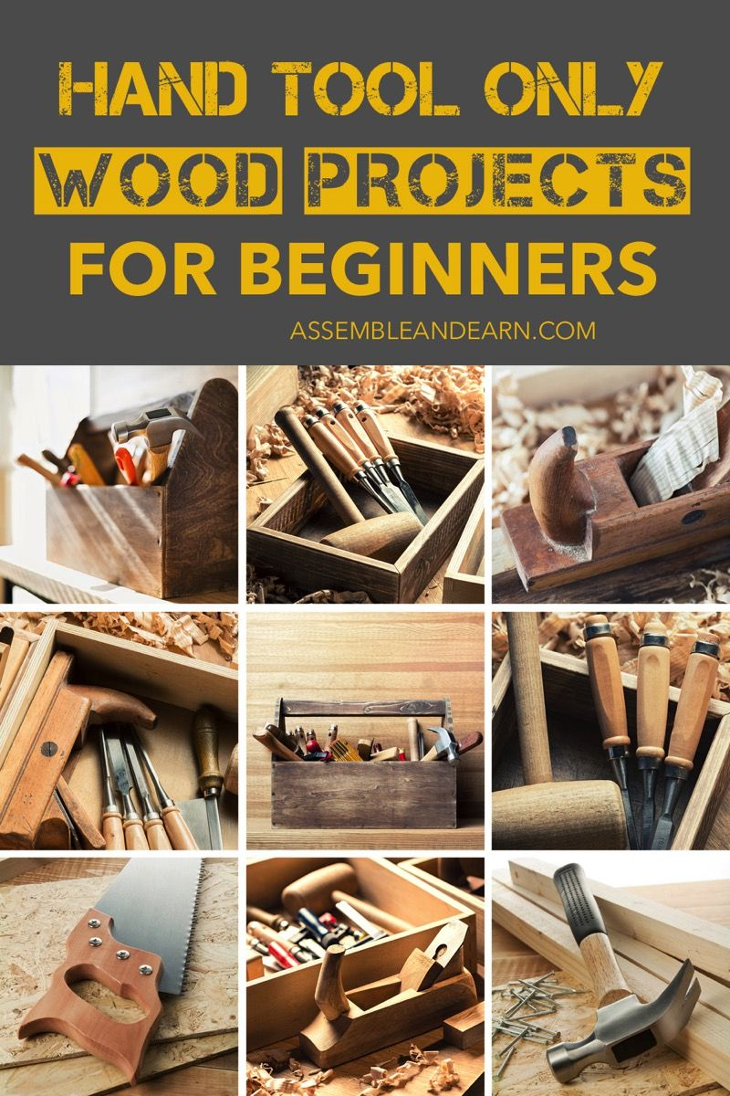 all about building wood projects using only hand tools. plus