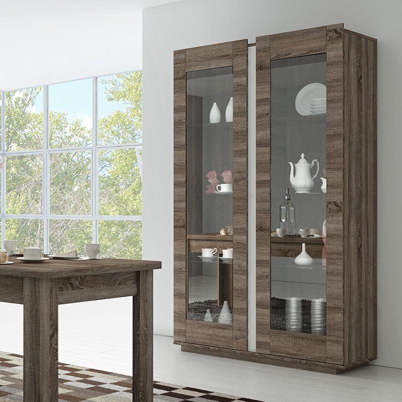 Vaisselier Couleur Chene Dore Moderne Bonie Salle A Manger De Luxe Meuble Rangement Meuble Design