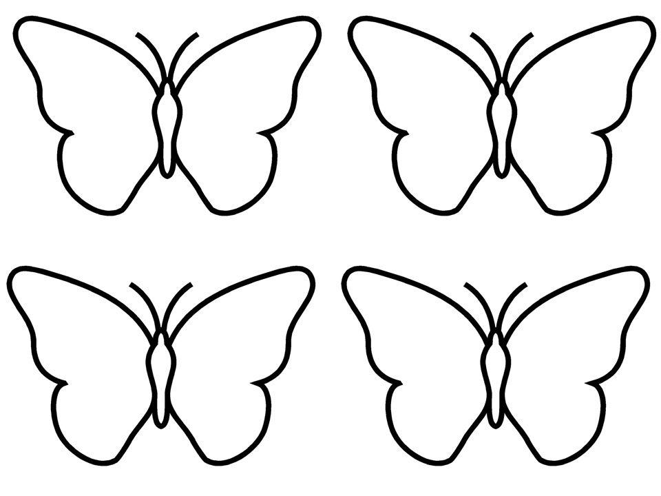 Silhouette Papillon Imprimer Avec Images Coloriage Papillon