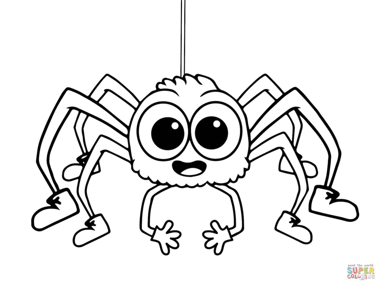 Incy Wincy Spider Coloring Page From Itsy Bitsy Spider Category