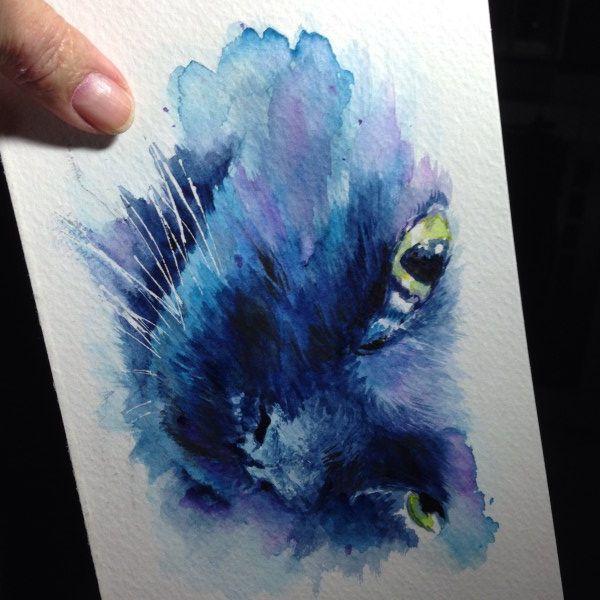 Gansai Tambi Kitty Cat Face Painting - watercolor - bjl