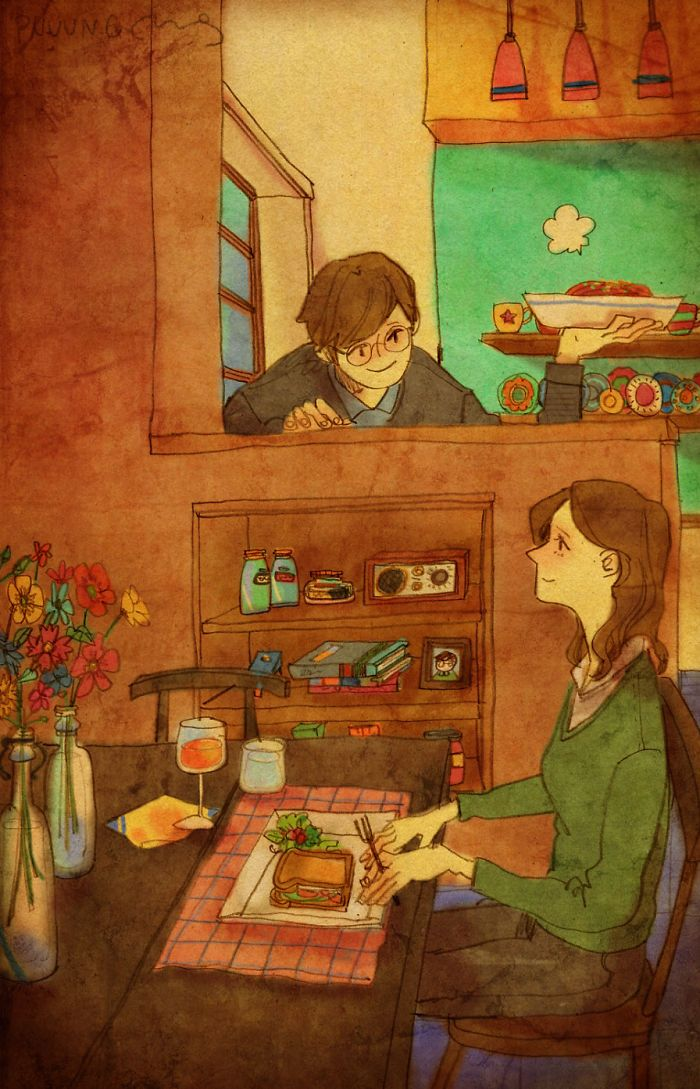 """Love is in Small Things: Artist """"Puuung"""" captures those little moments that make…"""