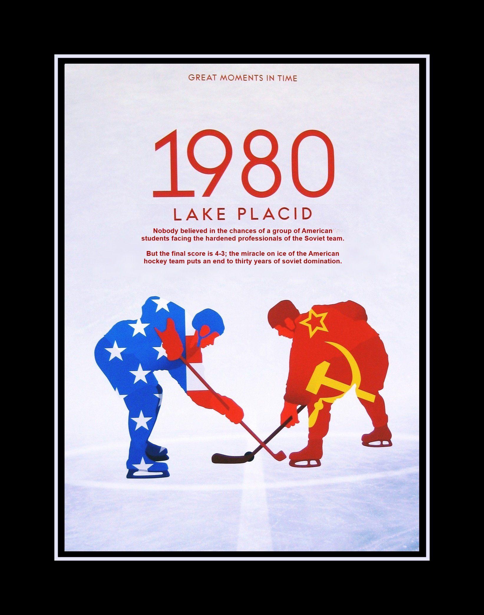 Lake Placid Hockey Wall Art Gift 1980 Olympics Championship Poster Usa Vs Ussr Gift For Him Wall Decor Champion Hockey Wall Art Lake Placid Hockey Posters