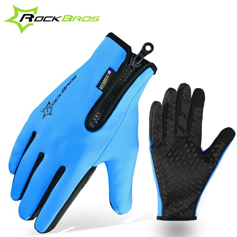 RockBros Winter Gloves Cycling Fleece Thermal Windproof Full Finger Gloves