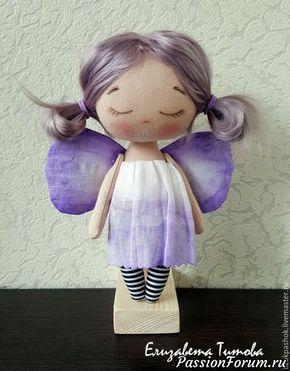 Шьем куколку «лавандовый мотылек» из обрезков ткани
