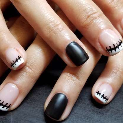 45 Halloween Nail Ideas You Ll Actually Want To Wear Halloween Nail Designs Nightmare Before Christmas Nails Christmas Nails Acrylic
