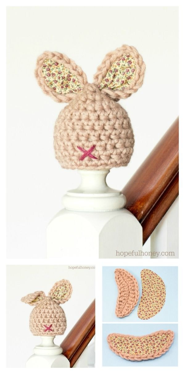Adorable Crochet Bunny Hat Free Patterns for Easter | Pinterest