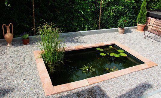 wasserbeckende Garten Pinterest Gartenbeet und Gärten - terrassengestaltung mit wasserbecken