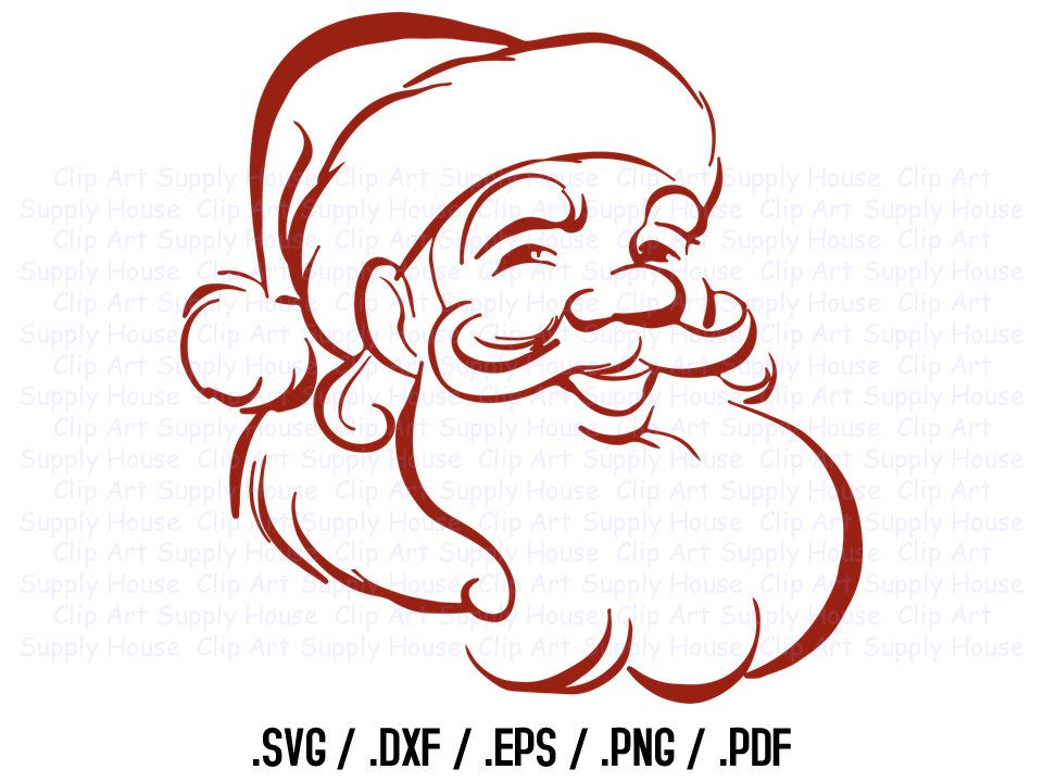 Santa Claus Clipart, Winter Christmas Wall Art, Santa SVG File for ...
