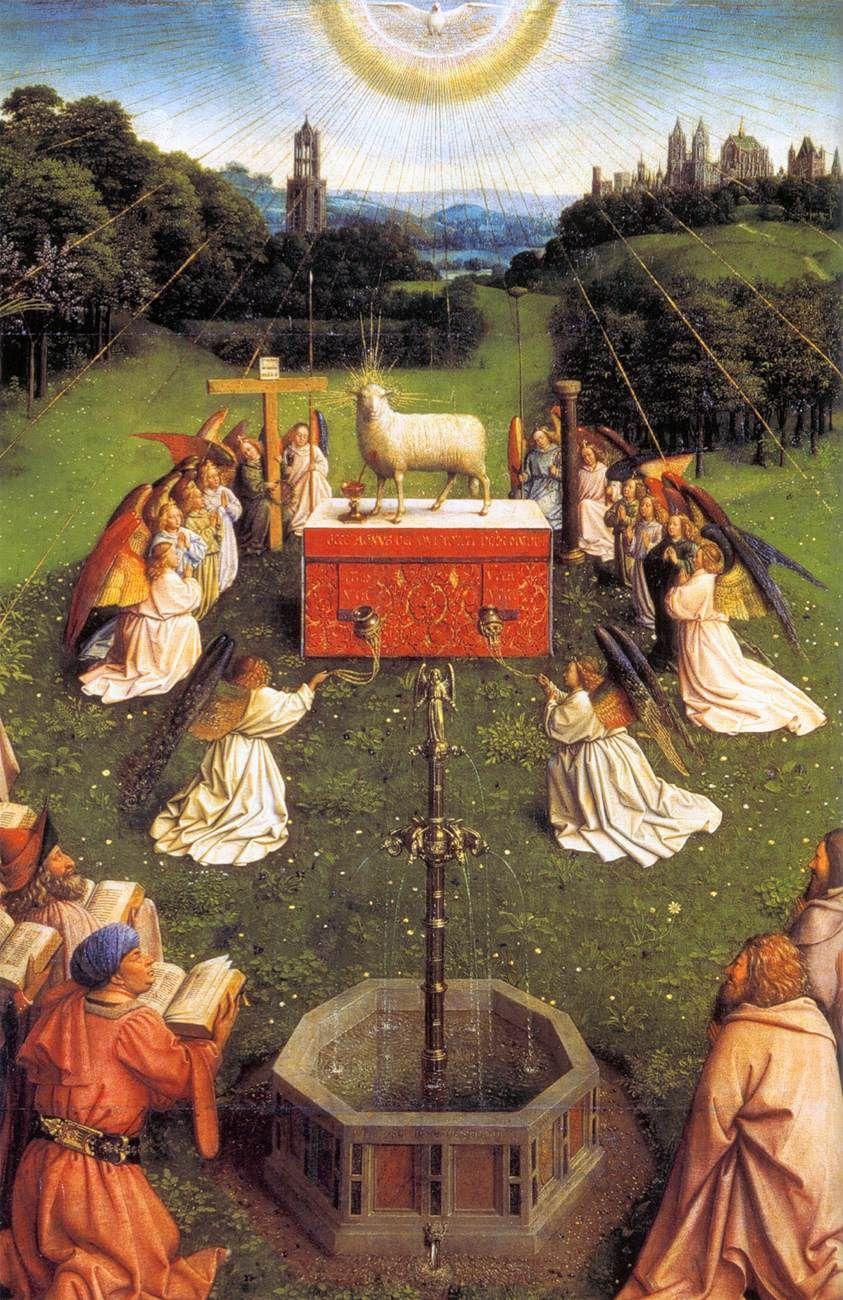 Jan Van Eyck The Ghent Altarpiece Easter Jan Van Eyck