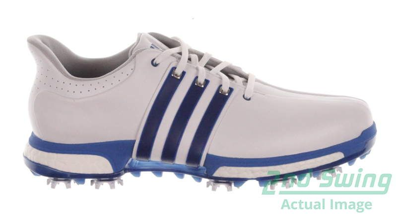 dfba9f08c91a35 New Mens Golf Shoe Adidas Tour 360 Boost Medium 10.5 White Blue MSRP  200