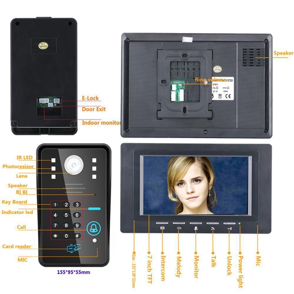 Video Door Phone Intercom Doorbell 7