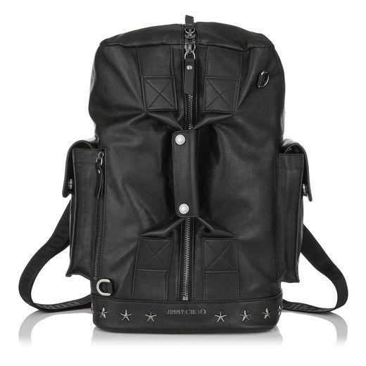 db97d7e1be4f JIMMY CHOO ARLO Black Biker Leather Holdall.  jimmychoo  bags  leather   backpacks