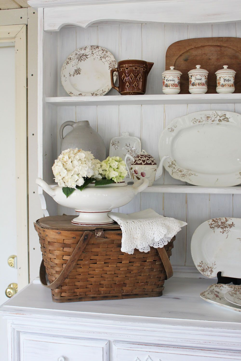 Adding Farmhouse Charm By Decorating With Baskets The Cottage Market