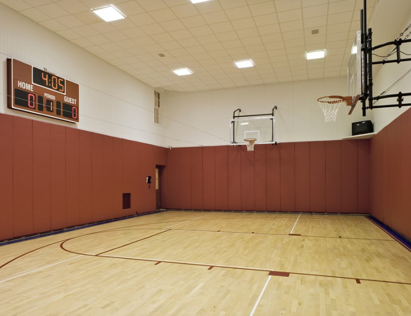 Indoor basketball court ceiling height for Indoor basketball court size