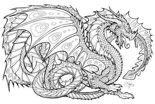 Image for Realistic Dragon Coloring Pages | dragon | Pinterest