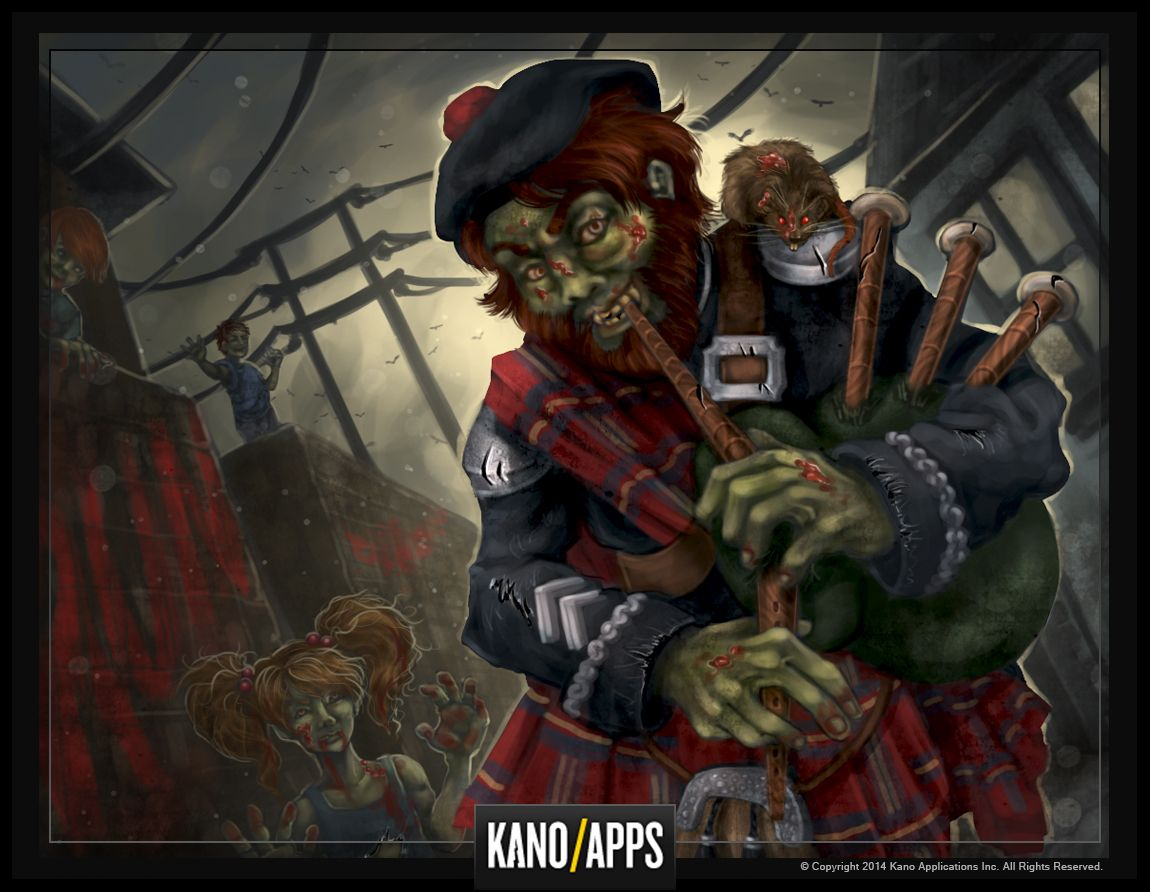 The Piper Boss From #zombieslayer #kanoapps #art #conceptart #zombie  #scotland