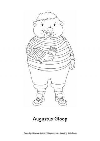 Augustus Gloop Colouring Page | Roald Dahl Day | Pinterest ...