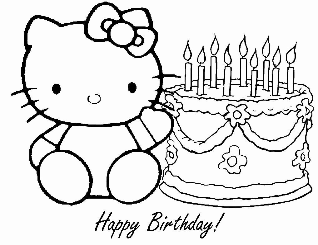 Happy Birthday Coloring Page New Free Printable Happy Birthday Coloring Pages For Ki Hello Kitty Coloring Birthday Coloring Pages Happy Birthday Coloring Pages