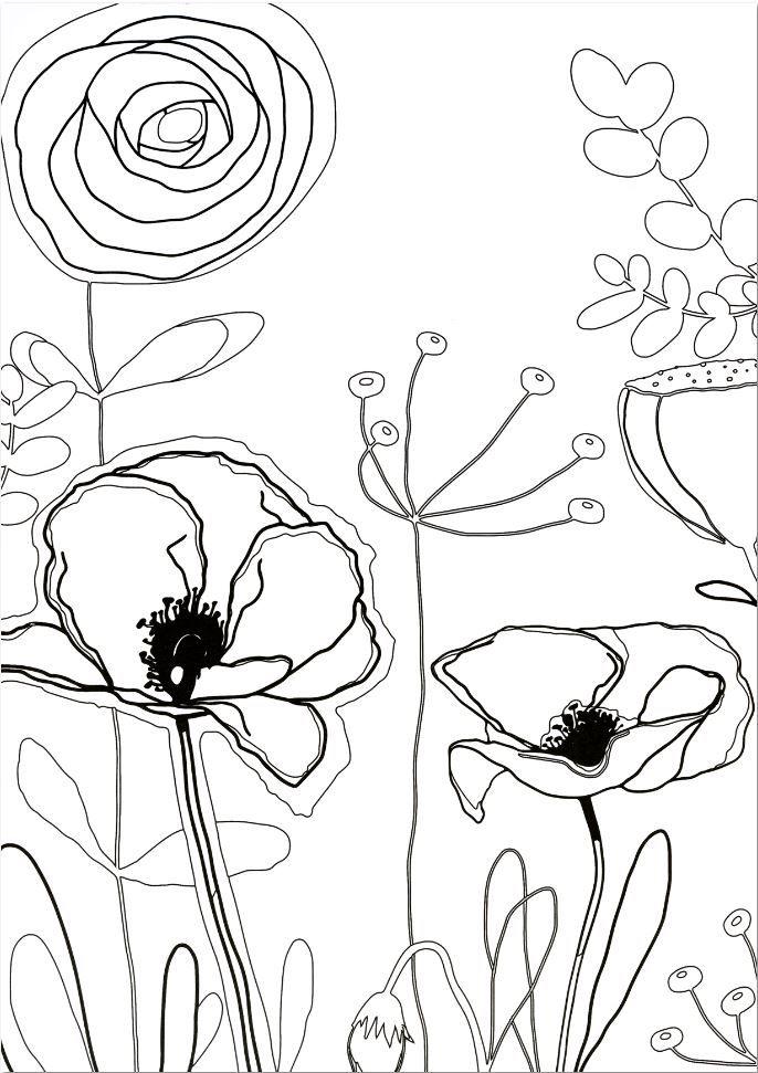 Concours cr atif sp cial coloriage adulte flower petal feathers - Coloriage fleur 8 petales ...