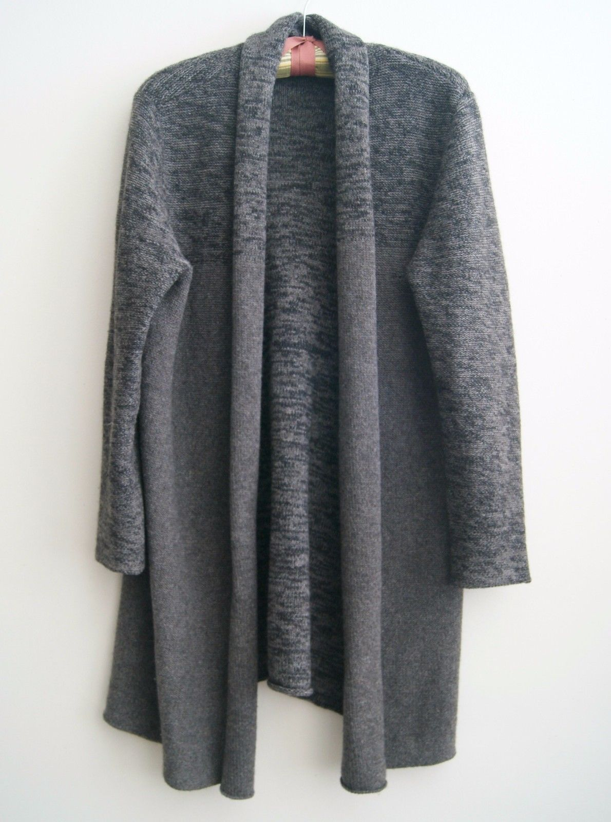 Eileen Fisher Petite P L Ash Yak Wool Silk long open Cardigan ...