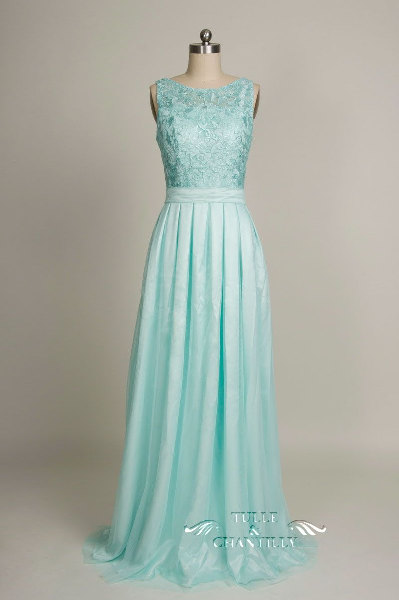 Long blush chiffon and lace bridesmaid dress tbqp227 mint blue vintage lace mint blue bridesmaid dress with chiffon skirt for 2016 weddings ombrellifo Image collections
