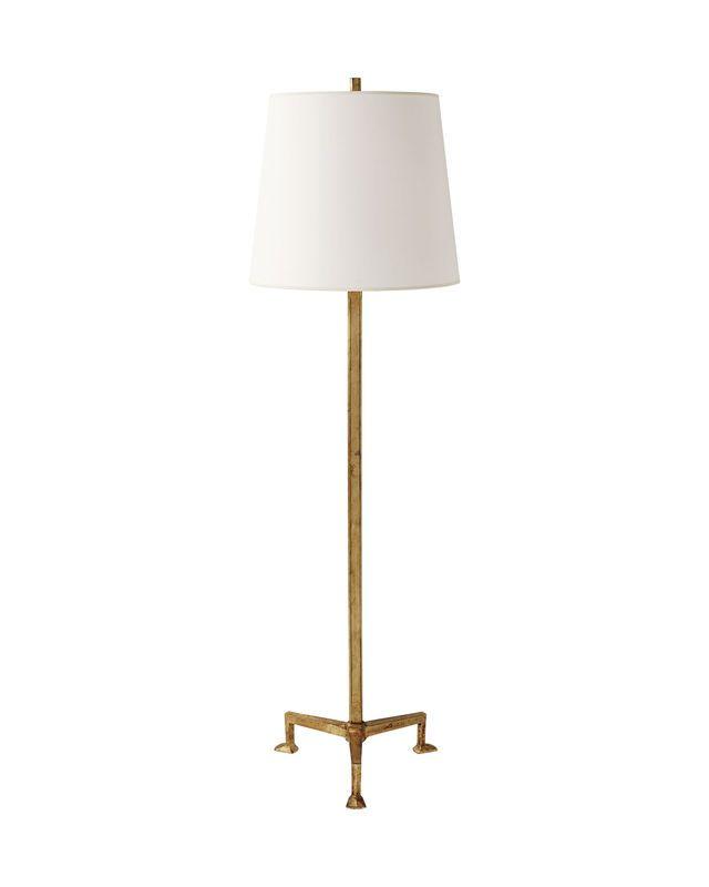 Instead of rh floor lamp next to media console harrington floor lamp lighting