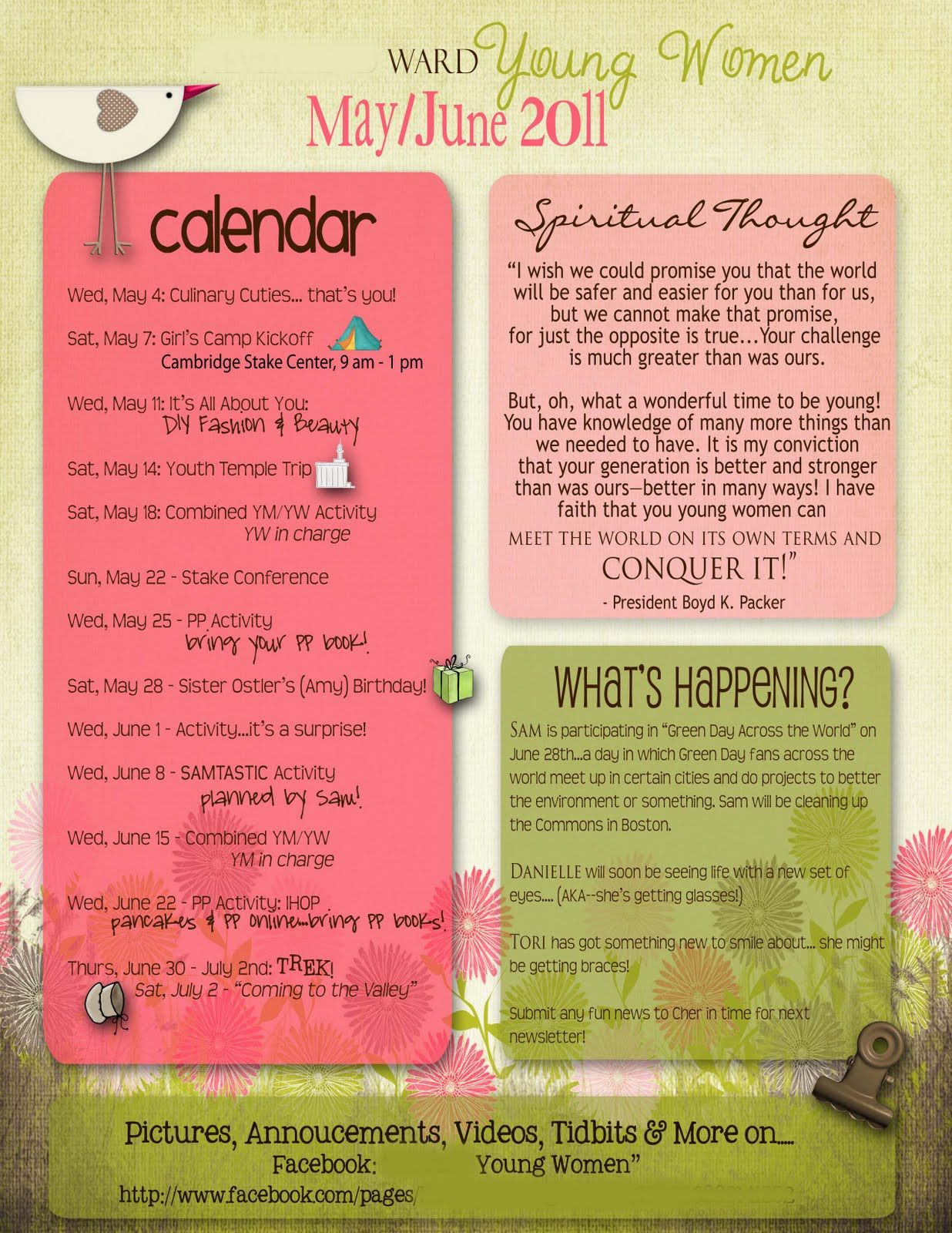 Cute newletter templates you know i might incorporate for Girl scout calendar template
