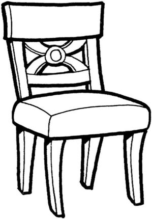Kitchen Chair Coloring Page Supercoloring Com Chair Chair Drawing Kitchen Table Chairs