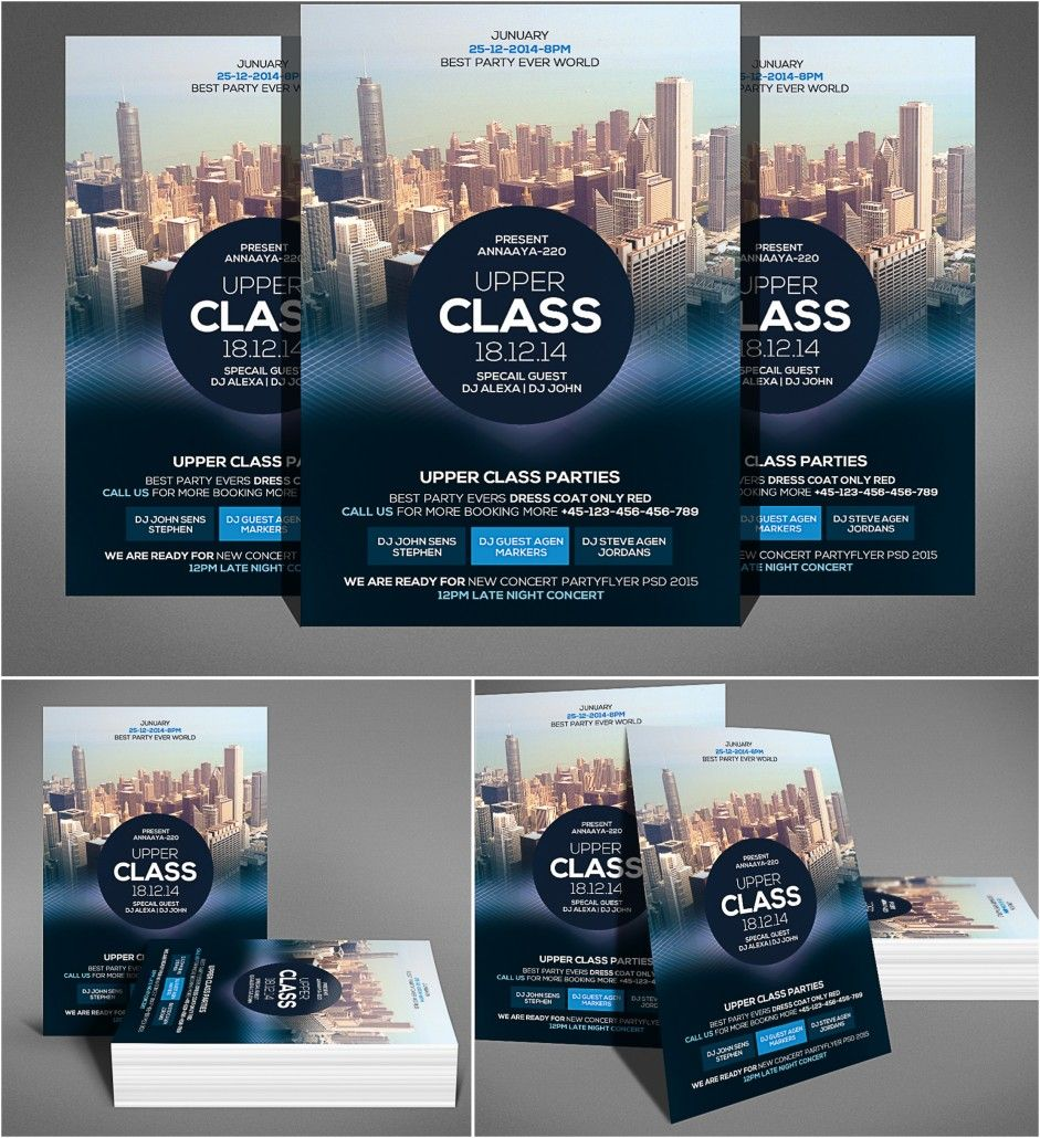 Description Introducing Party Flyer Template With Skyscrapers For