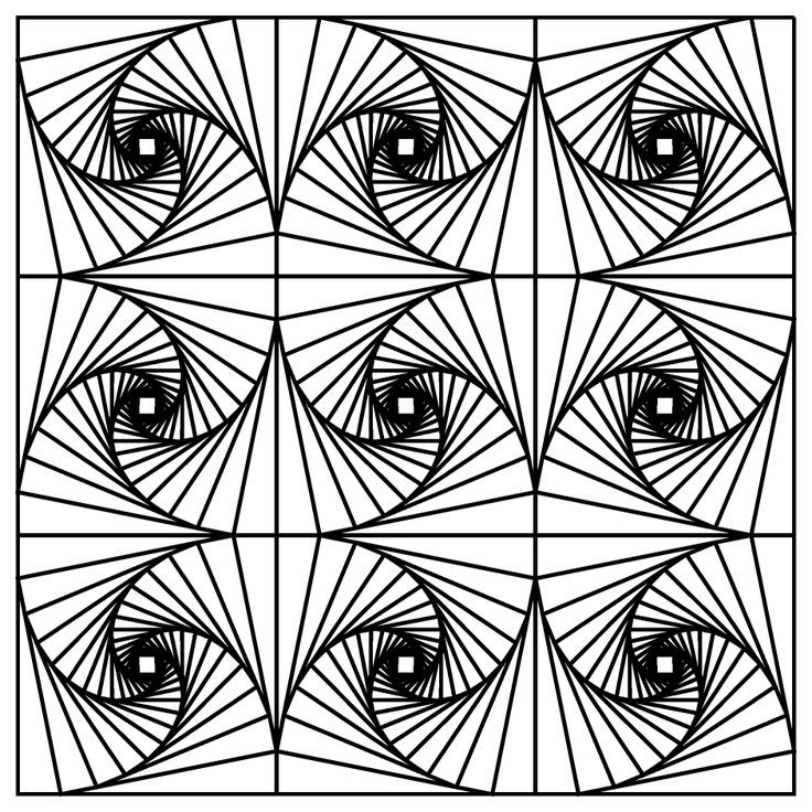 fractal coloring page - Fractal Coloring Book