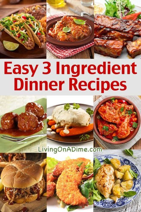 Easy 3 Ingredient Dinner Recipes - Delicious Meals Fast! images