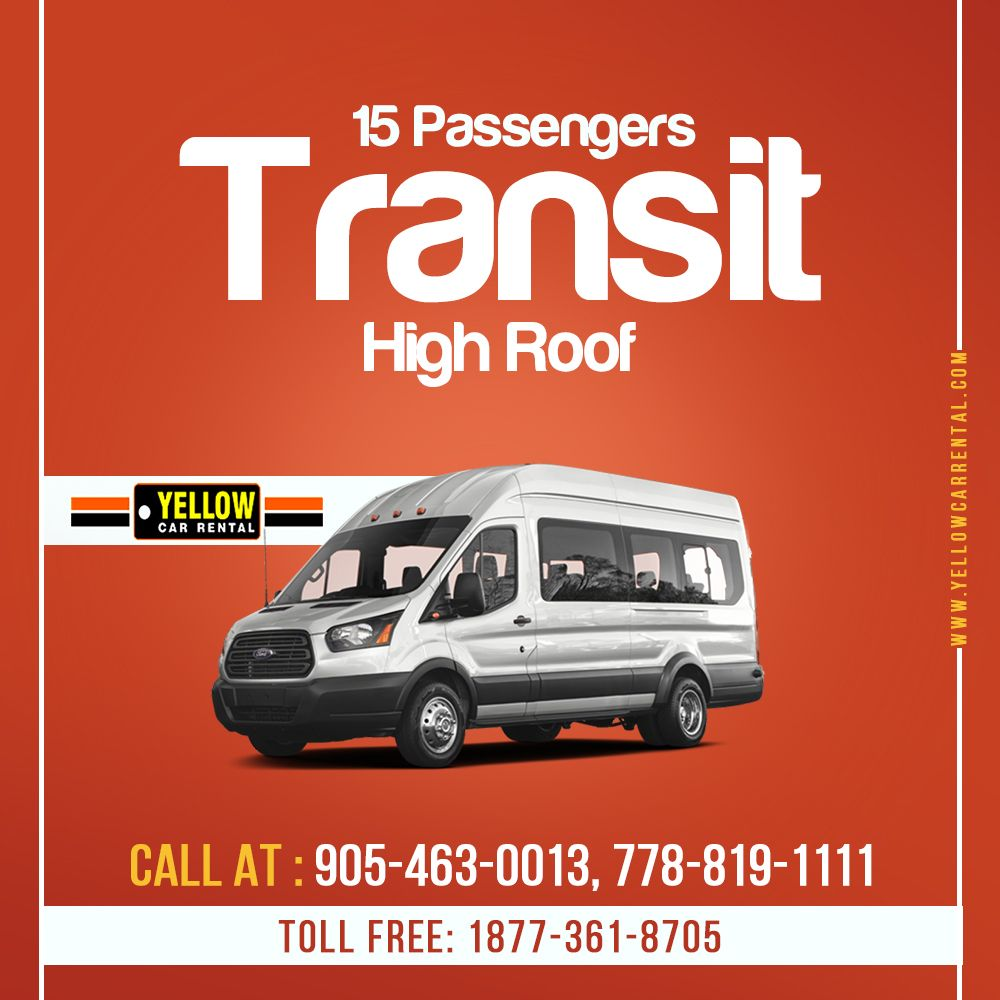 The 15 Passengers Transit of Yellow Car Rental is the best