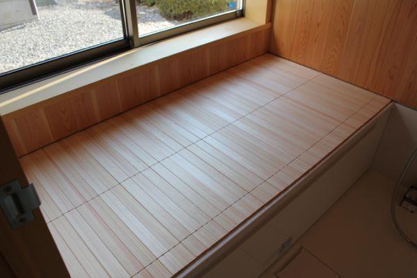 木製 風呂蓋 風呂蓋 板の壁 風呂
