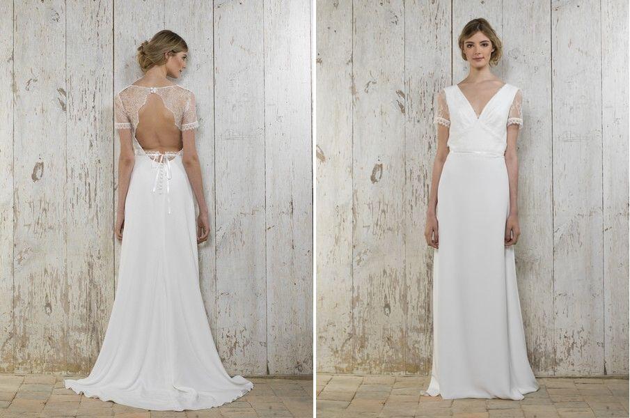 Das Brautkleid Patou von Lambert Creations passt herrlich zu Boho ...