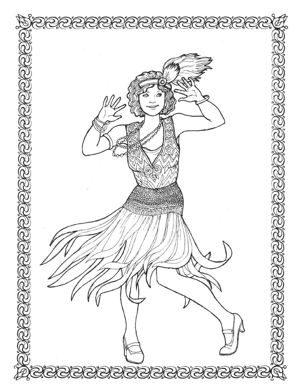 Dancers coloring book costumes for coloring | Colorear, Dibujos para ...