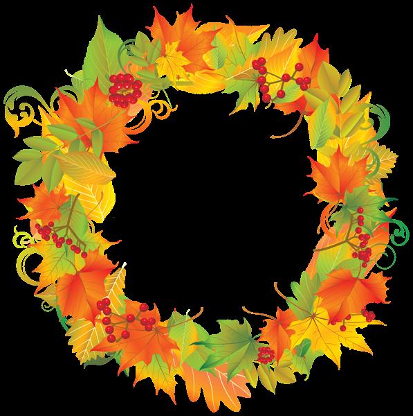 Autumn Wreath Png Clipart Image Fall Clip Art Clip Art Fall Leaf Wreaths