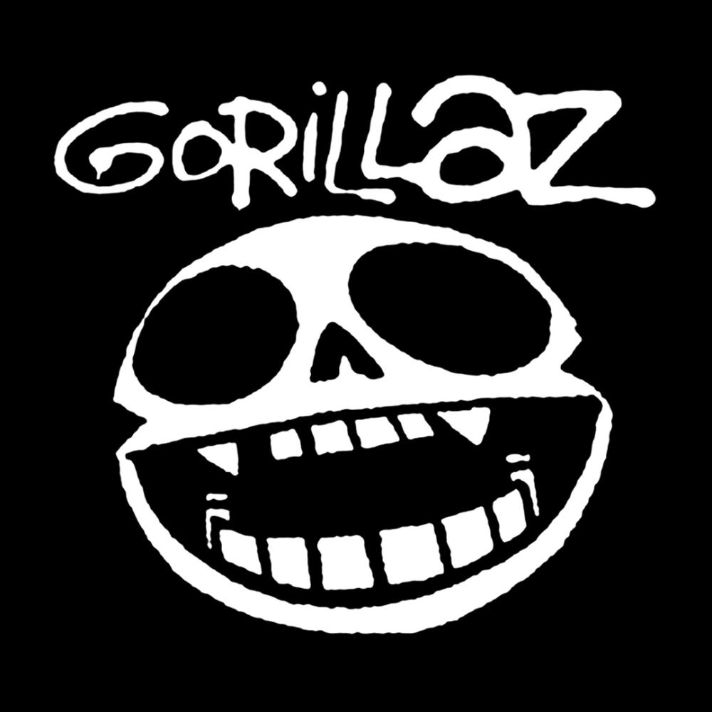 Gorillaz Noodle Skull Face 4x4 Printed Sticker Gorillaz Albums Gorillaz Gorillaz Art