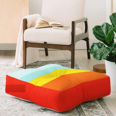 East Urban Home Garima Dhawan Mindscape Floor Pillow Floor Pillows Round Floor Pillow East Urban Home