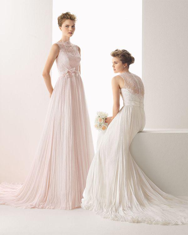 Rosa Ou Vestidos Noiva casamento Clará Em De 10 Branco YawXnq