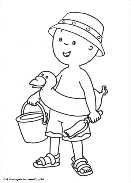 The Awesome Gorgeous caillou coloring pages httpcoloring