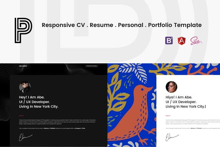 Penelope  Responsive Cv  Resume Template By Hencework  Web